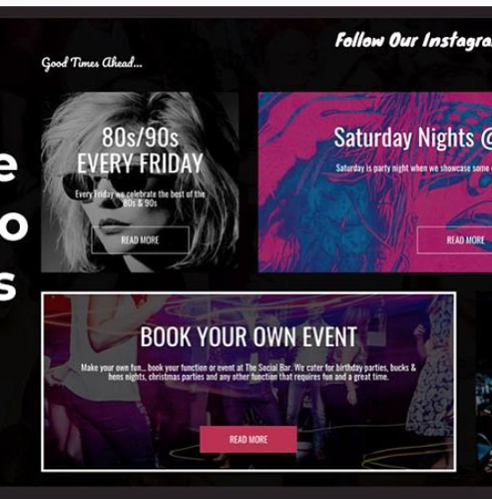 Create a website for your bar or restaurant